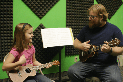Guitar Lessons in Progress